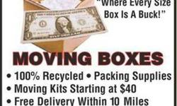 MOViNG * BOXES * ~ All Sizes ~ * $1 ea * ~ Delivered ! ~ *