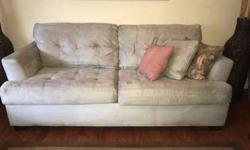 MUST SELL THIS WEEK! 2 Ashley furniture couches, light blue