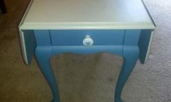 Nautical Chalk Paint Table PRICE DROP