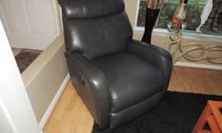 Nelle Slate Leather Glider Reclining Chair