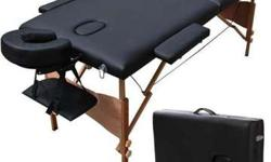 "NEW 84"" Black Portable Massage Table w/Free Carry Case-New,"