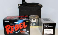 NIB Canon EOS Rebel T3i DSLR Camera + 18-55mm 75-300mm