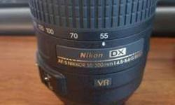 Nikon DX AF-S NIKKOR 55-300mm 1:4.5-5.6 G Lens with soft