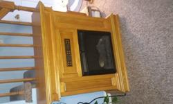 Oak Electric Fireplace