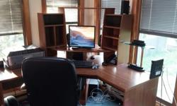 Office Desk and Leather chair