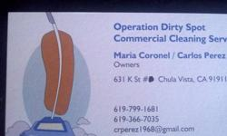 Operation Dirty Spot Commercial cleaning