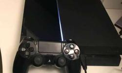 Original PS4, Jet Black (500GB) with 6 Games. In Excellent