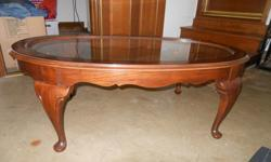 Oval Queen Anne Coffee Table