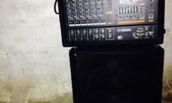 PA system (EMX620 mixer and a Peavey TLS-2X speaker cabinet)