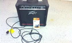 Peevey electric guitar amp with guitar tuner