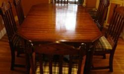 Pennsylvania House Dining Table and Chair Set