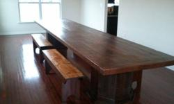 PERSONALIZED RECLAIMED BARNWOOD FARM TABLES AND FURNITURE <<