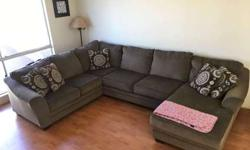 *Pricing to Sell* Sectional Couch w/ Chaise, Light Brown
