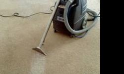 Professional carpet cleaning and deodorizing.