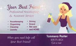 Professional Housekeeping & Assistant Services