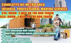 Professional Moving Service from $45/Hour- Get a $10/Hr