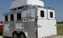 "qwForSale 2012 Trailer 4-Star 3 Horse16"" Steel BP wby"