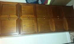 real wood cabinet