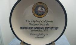 Republican 1956 National Convention Plate San Francisco CA