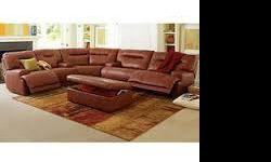 Ricardo Leather Power Reclining Sectional Sofa, ~ Furniture
