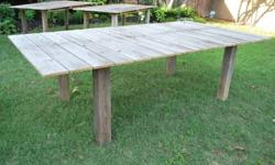 RUSTIC Wood Tables - Great for Weddings, Outdoor Events or