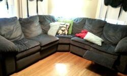 Sectional Couch with recliner seat