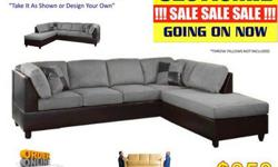Sectional sofa couch with chaise
