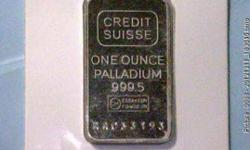 SELLING PALLADIUM ONE TROY OUNCE ROUNDS AND INGOTS (Tinley
