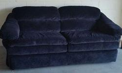 Sofa Bed Plush Black Velvet Queen Size Almost New