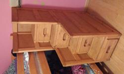 solid wood Bunk bed staircase with storage