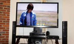 "Sony 55"" 3D capable TV and accessories"