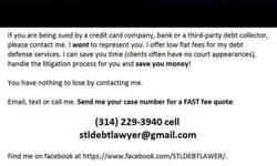 #STLDEBTLAWYER Sued on a Debt in the Greater Saint Louis