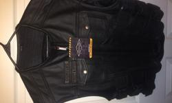 Street And Steel Anarchy Leather Vest ( Size XL ) brand new