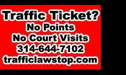 Traffic Tickets Fixed $40+ | Traffic Law Stop Saint Louis