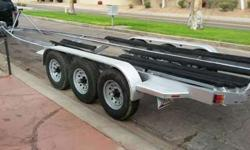 Tri Axel Boat Trailer 8 Log 7000lb Each Axle Total of 33feet