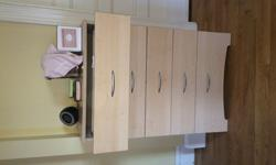 Twin bed, 2 desks and dresser for sale