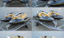 TWO 2006 Seadoo RXP 'S and trailer