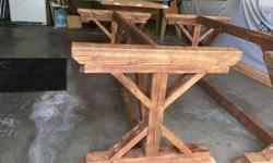 UNFINISHED Farm or Trestle tables