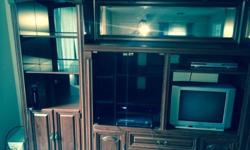 Very nice wooden entertainment center