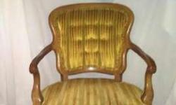 Vintage Chair Green Gold