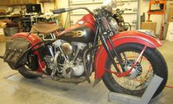 Vintage Harley Knuckle Head, 1939 EL Not Original Paint