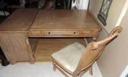 Wood Desk and Chair Set by Kevin Charles Furniture