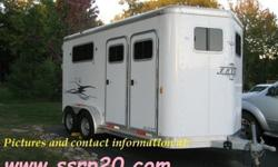 wR*33 2003 Exiss SSRP20 2 Horse Trailer YYY