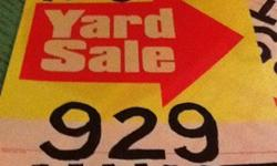 Yard Sale Saturday October 6 Hunt Drive, West Chester